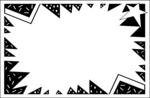 Free Stock Photo: Illustration of a blank burst frame