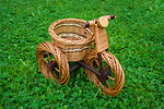 Free Stock Photo: A wicker basket tricycle