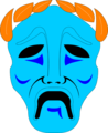 Free Stock Photo: Illustration of a tragedy drama mask