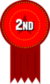 Free Stock Photo: Illustration of a 2nd place ribbon