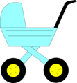 Free Stock Photo: Illustration of a baby carriage