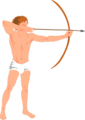 Free Stock Photo: Illustration of cupid with a bow and arrow