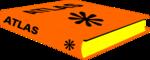 Free Stock Photo: Illustration of an orange atlas book