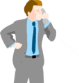 Free Stock Photo: Illustration of a business man on a phone