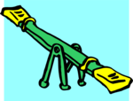 Free Stock Photo: Illustration of a see-saw