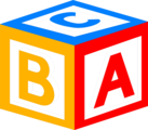 Free Stock Photo: Illustration of a block with abc's on it