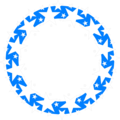 Free Stock Photo: Illustration of a blue circle with white stars
