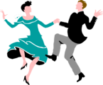 Free Stock Photo: Illustration of a couple dancing