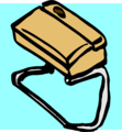 Free Stock Photo: Illustration of a brown purse