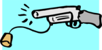 Free Stock Photo: Illustration of a toy cork gun