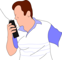 Free Stock Photo: Illustration of a man with a walkie talkie