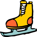Free Stock Photo: Illustration of an ice skate