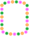 Free Stock Photo: Illustration of a blank frame border of colored shapes