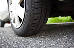 Free Stock Photo: Close-up of a car tire