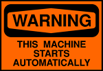 Free Stock Photo: Illustration of machine warning sign