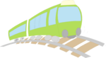 Free Stock Photo: Illustration of a green train