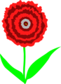 Free Stock Photo: Illustration of a red carnation flower