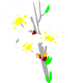 Free Stock Photo: Illustration of white flowers