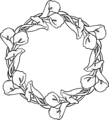 Free Stock Photo: Illustration of a wreath of flowers