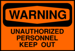 Free Stock Photo: Illustration of a keep out warning sign