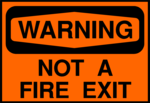 Free Stock Photo: Illustration of no fire exit warning sign