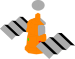 Free Stock Photo: Illustration of a space satellite