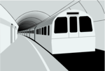 Free Stock Photo: Illustration of a subway train