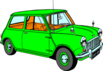 Free Stock Photo: Illustration of a green hatchback