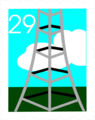 Free Stock Photo: Illustration of a stamp with a tower design