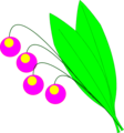 Free Stock Photo: Illustration of a plant with purple berries