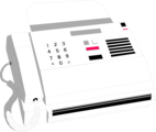 Free Stock Photo: Illustration of a white fax machine
