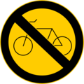 Free Stock Photo: Illustration of a no bikes warning sign