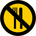 Free Stock Photo: Illustration of a no food warning sign