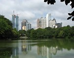 Free Stock Photo: Atlanta skyline view with a lake