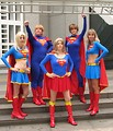 Free Stock Photo: A group of women in Supergirl costumes at Dragoncon 2009 in Atlanta, Georgia