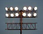 Free Stock Photo: Large floodlights on a pole
