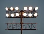 Free Stock Photo: Large floodlights on a pole