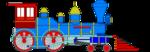 Free Stock Photo: Illustration of a steam locomotive train