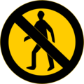 Free Stock Photo: Illustration of a no entry sign
