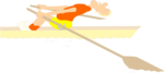 Free Stock Photo: Illustration of a man rowing a boat