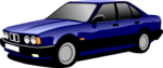 Free Stock Photo: Illustration of a blue sedan
