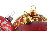 Free Stock Photo: Close-up of red Christmas ornaments