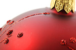 Free Stock Photo: Close-up of a red Christmas ornament