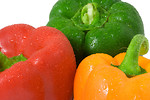Free Stock Photo: Close-up of three colored peppers