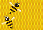 Free Stock Photo: Illustration of two bees on a honeycomb