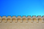Free Stock Photo: A castle wall against a blue sky