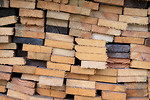 Free Stock Photo: A stack of firewood planks