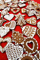 Free Stock Photo: Christmas shaped gingerbread cookies