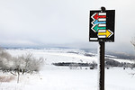 Free Stock Photo: A tourist signpost in the snow