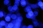 Free Stock Photo: Blurred blue lights